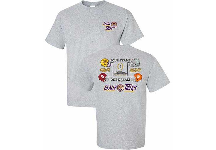 LSU 4 Teams 1 Dream Shirt